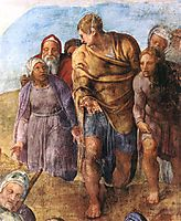 martyrdom of Saint Peter: detail, 1550, michelangelo