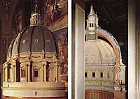 Model of the dome, 1560, michelangelo