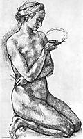 Nude Woman on her Knees, michelangelo