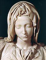 Pieta: detail: 1, 1499, michelangelo