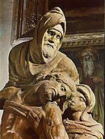 Pieta: detail: 1, 1550, michelangelo