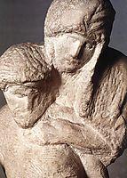 Pieta Rondanini, unfinished: detail: 1, 1552-1564, michelangelo