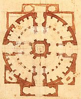 Plan for a Church, 1560, michelangelo