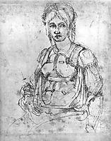 Portrait of Vittoria Colonna, 1540-1550, michelangelo