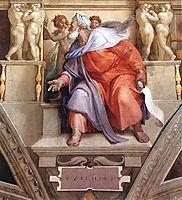 The Prophet Ezekiel, 1510, michelangelo