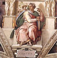 The Prophet Isaiah, 1509, michelangelo