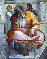 The Prophet Jeremiah, 1512, michelangelo