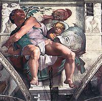 The Prophet Jonah, 1511, michelangelo