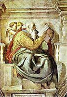 The Prophet Zechariah, 1512, michelangelo