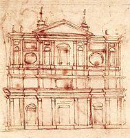 San Lorenzo, façade, c.1517, michelangelo