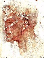 Satyr-s Head, michelangelo