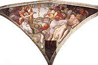 Sistine Chapel Ceiling: The Brazen Serpent, 1511, michelangelo