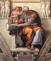 Sistine Chapel Ceiling: Cumaean Sibyl, 1510, michelangelo