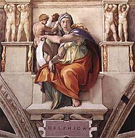 Sistine Chapel Ceiling: The Delphic Sibyl, 1509, michelangelo