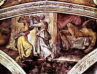 Sistine Chapel Ceiling: Judith Carrying the Head of Holofernes, 1512, michelangelo