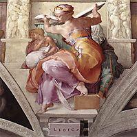 Sistine Chapel Ceiling: Libyan Sibyl, c.1510, michelangelo