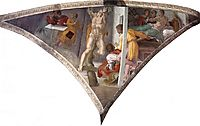 Sistine Chapel Ceiling: The Punishment of Haman, 1512, michelangelo