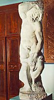 Slave, bearded, 1519-1536, michelangelo