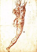 Study to , 1504, michelangelo