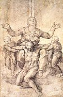 Study for the Colonna Pieta, 1538, michelangelo