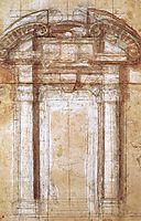 Study for the Porta Pia, 1561, michelangelo