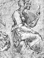 Study of a Seated Woman, michelangelo