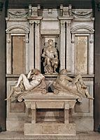 Tomb of Giuliano de Medici, 1526-1533, michelangelo