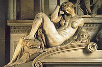 Tomb of Giuliano de- Medici: Night, 1526-1533, michelangelo