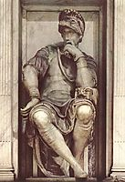 Tomb of Lorenzo de- Medici: Lorenzo de- Medici, 1524-1531, michelangelo