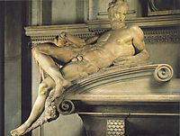 Tomb of Lorenzo de- Medici: Twilight, 1524-1531, michelangelo