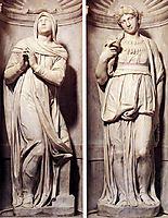 Tomb of Pope Julius II: detail Rachel and Leah, 1545, michelangelo