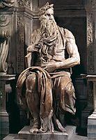 Tomb of Pope Julius II: Moses, 1545, michelangelo
