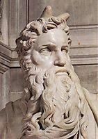 Tomb of Pope Julius II: Moses: detail: 1, 1545, michelangelo