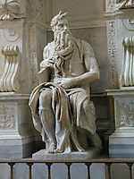 Tomb of Pope Julius II: Moses: detail: 2, 1545, michelangelo