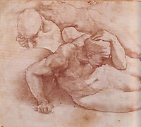 Two Figures, michelangelo