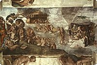 The Universal Flood, michelangelo