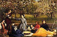 Apple Blossoms, 1859, millais