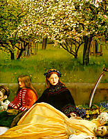 Apple Blossoms, Spring, detail 1, 1856-1859, millais