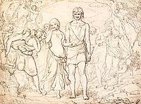 Cymon And Iphigenia, 1847, millais