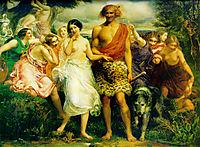 Cymon and Iphigenia, 1848-1851, millais