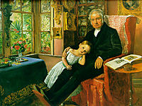 James Wyatt and His Granddaughter Mary, 1849, millais