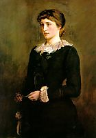 A Jersey Lily, Portrait of Lillie Langtry, 1878, millais