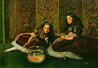 Leisure Hours, 1864, millais