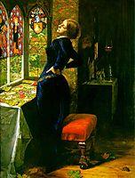 Mariana in the Moated Grange, 1850-1851, millais