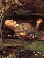 Ophelia, detail, 1851-1852, millais