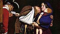 The Order of Release, detail 1, millais