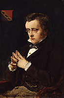 Portrait of Wilkie Collins, 1850, millais