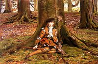 Rosalind In The Forest, millais