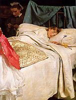 Sleeping, millais
