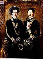Twins (Grace and Kate Hoare), 1876, millais